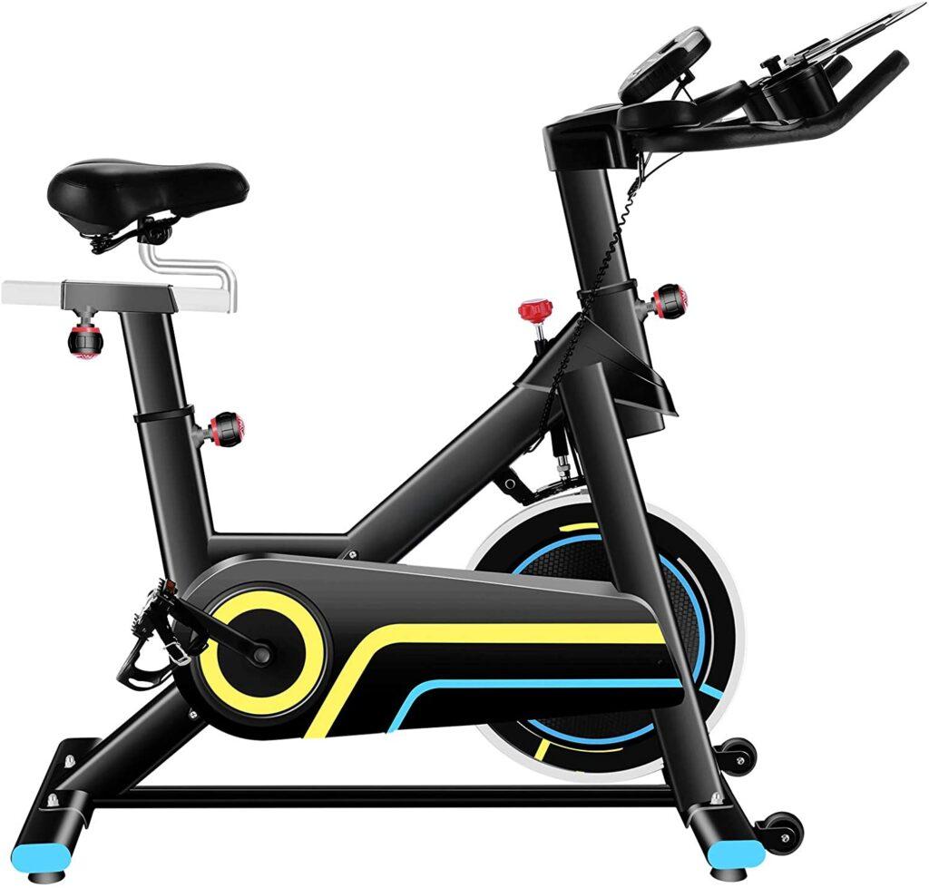 ANCHEER Vélo d'appartement Vélo de Fitness Vélo d'exercice avec Affichage LCD