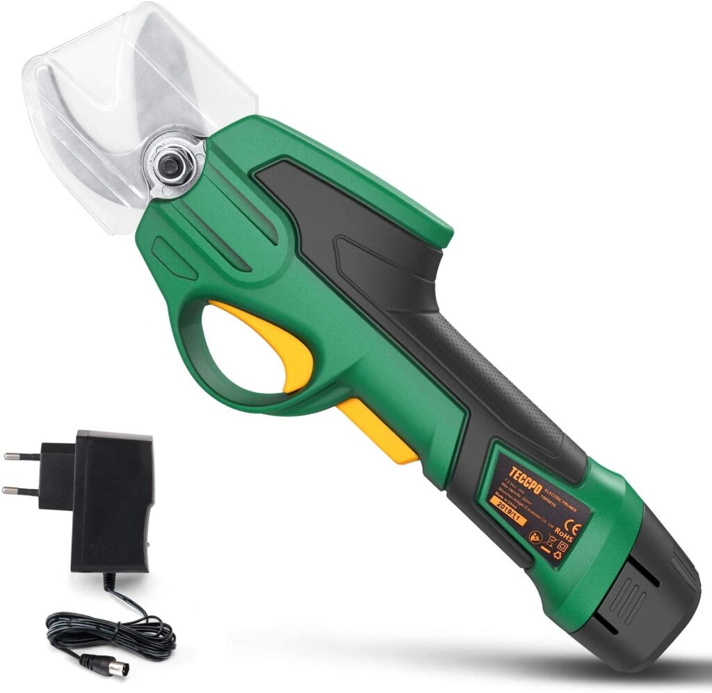 TECCPO Sécateur à Batterie, Sécateur de Jardin
