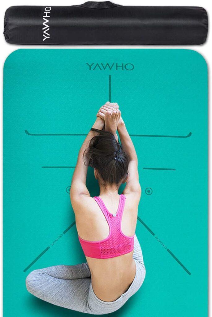YAWHO Tapis de Yoga Tapis Fitness